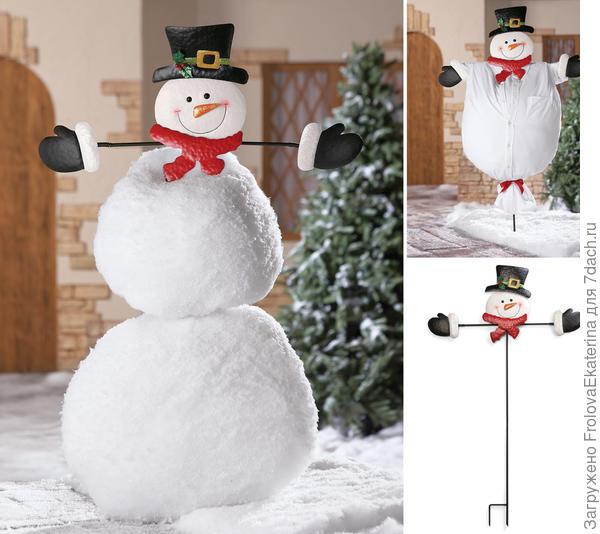 Каркас для лепки снеговика. Фото с сайтаcollectionsetc.com