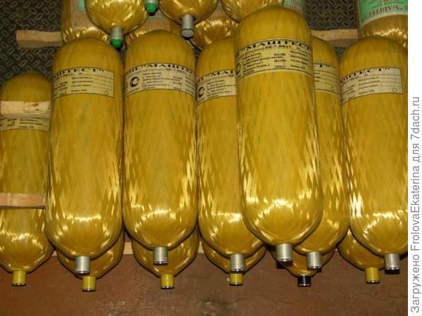 Металлокомпозитные газовые баллоны. Фото с сайта gorspravka09.ru