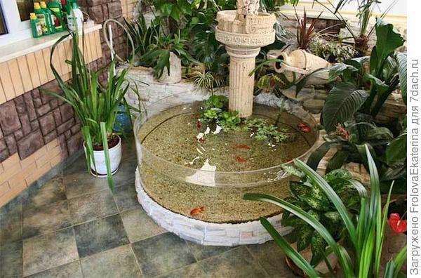Круглый садовый аквариум. Фото с сайта 3deko.info