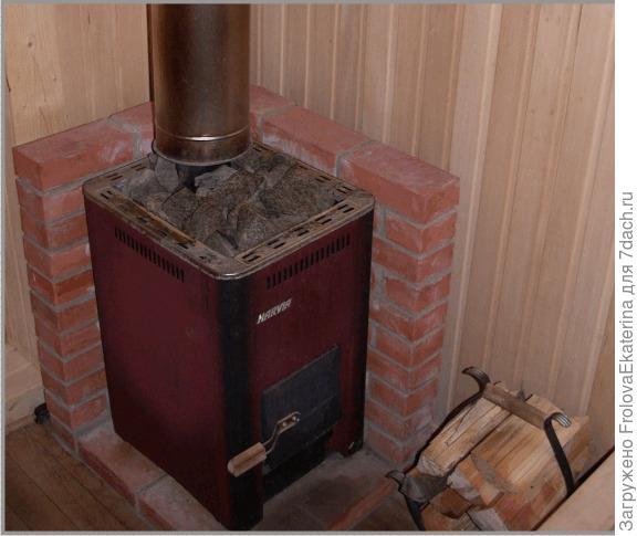 Металлическая печь для бани. Фото с сайта ahbanya.ru