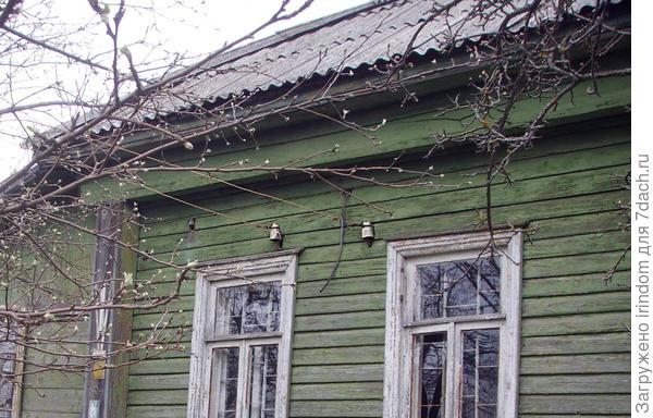 ввод в дом старым проводом с облезшей изоляцией