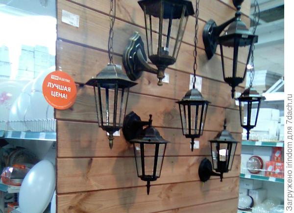Настенные и подвесные уличные светильники