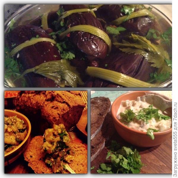 Три блюда из баклажан