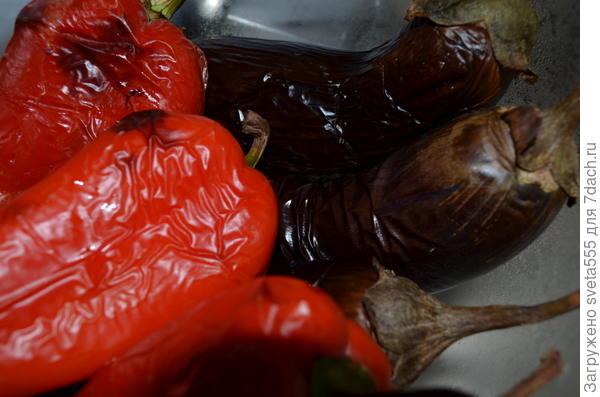 запеченные баклажаны и перец