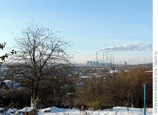 Городская ТЭЦ на горизонте.