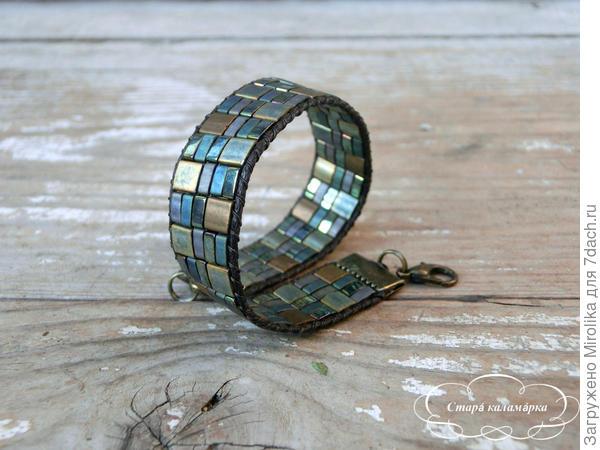браслет из стеклянного японского бисера