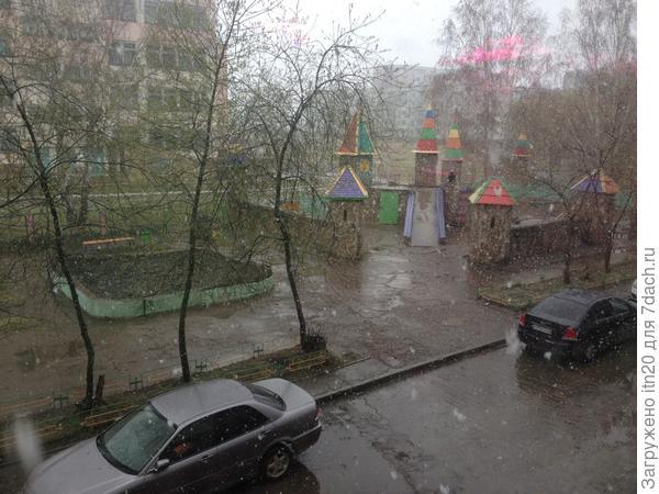 На улице всего 3 градуса, идет снег, правда, не ложится - тает, но земля мокрая, грязно, поездка на дачу отменилась, к большому сожалению.