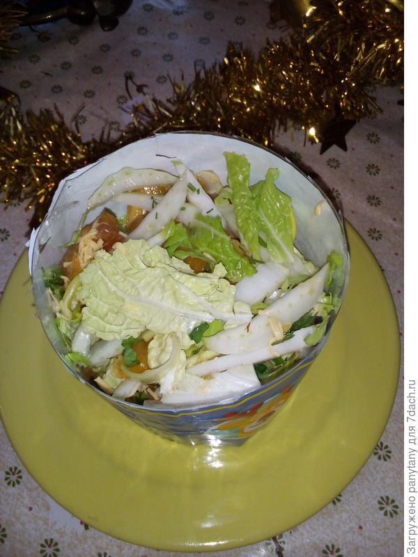 салат в форму