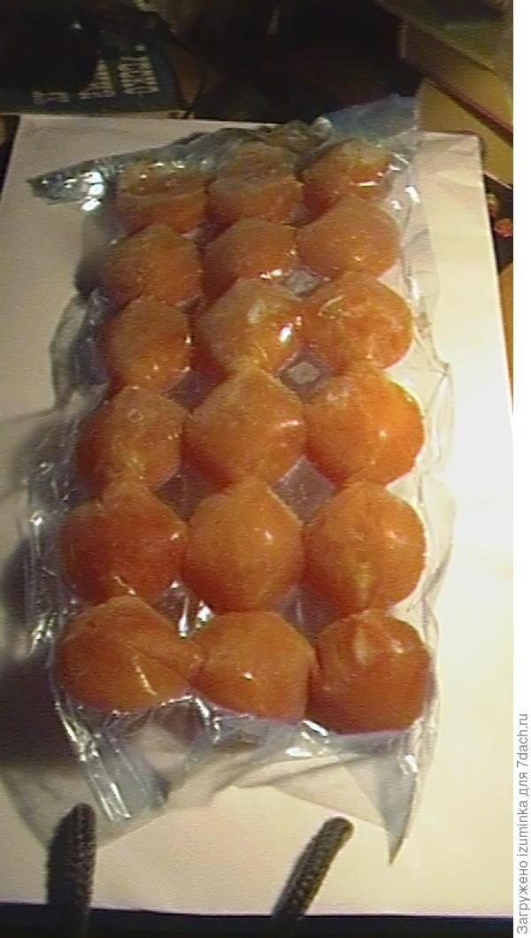 сок томатный в замороженный в пакетиках для льда