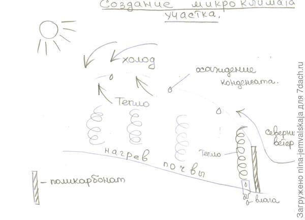Графическая схема циркуляции воздушных масс с учётом внесённых изменений.