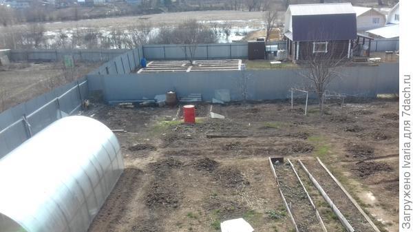 Наш огород ранней весной.