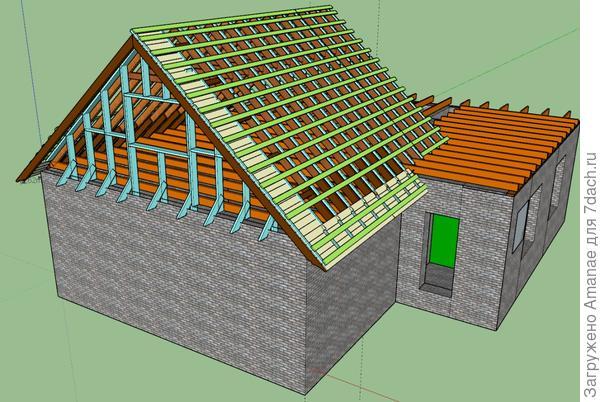 Проект крыши к перекрытию весны 2017.
