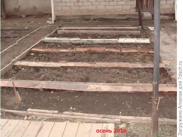 Участок 3*6 метров перед входом в дом