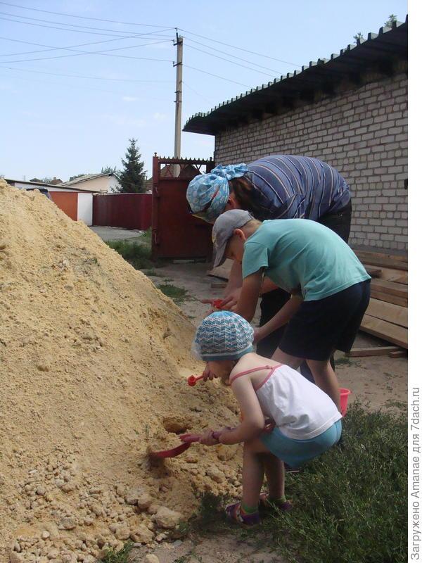 Песочница для стройки - играют все!