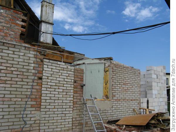 Без крыши над головой - раскрыта кухня и ванна.