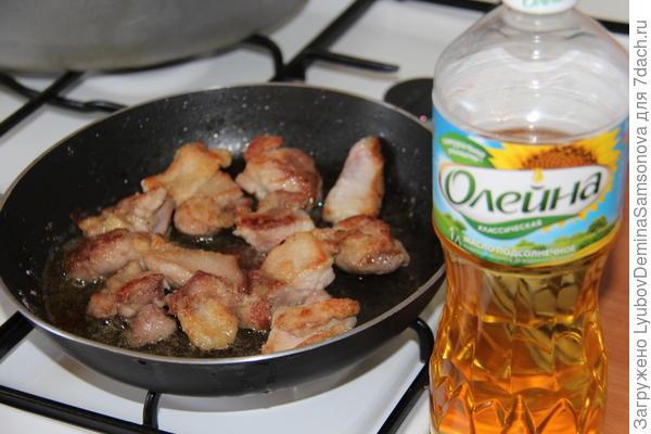 обжарка куриного мяса