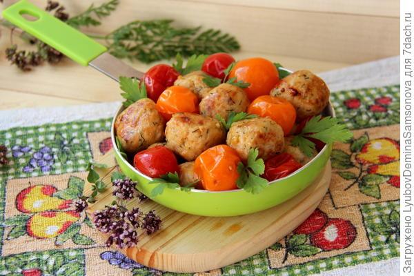 Тефтельки куриные с помидорами