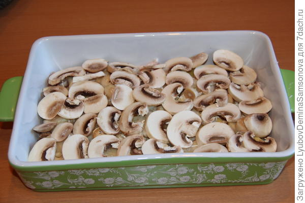 слой из грибов
