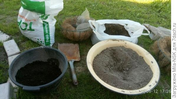 составные части почвы для пересадки