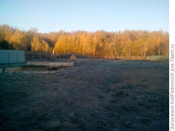 заморозки, середина октября