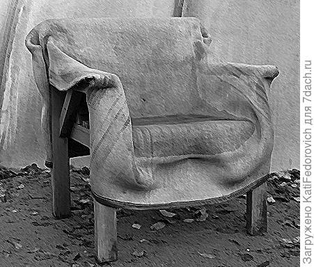 стул из бетона