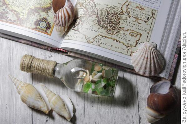 Сувенир из морских стекляшек