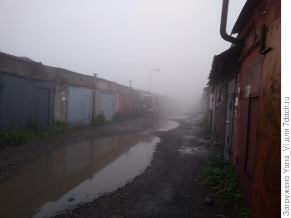 лужи в тумане...