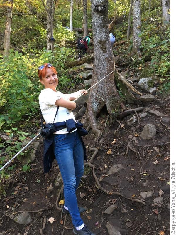 Хорошо, кто-то позаботился эти верёвки закрепить на деревьях. :)