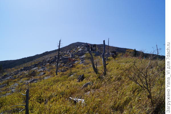 Дальше путь лежал по камням. И чем выше в гору, тем камни делались больше...
