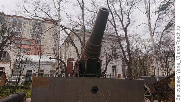 При ближайшем рассмотрении пушка оказалась японской мортирой времён Первой Мировой...