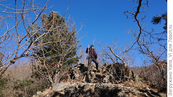 А муж на скале