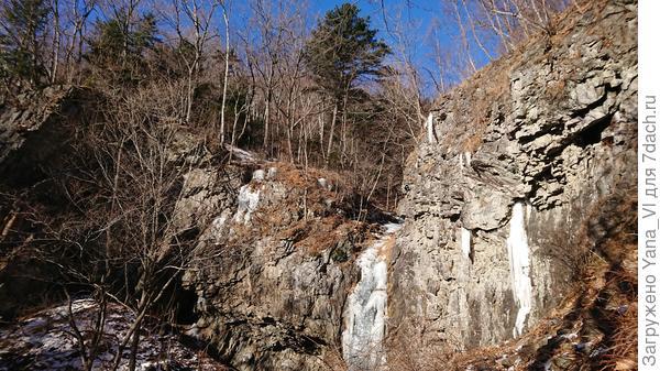 Замёрз водопад