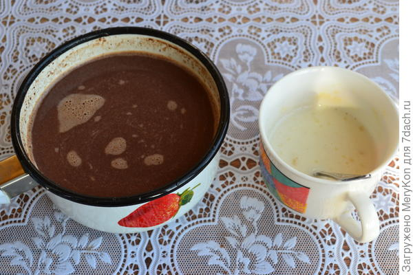 Весенний шоколадный десерт - Рассада