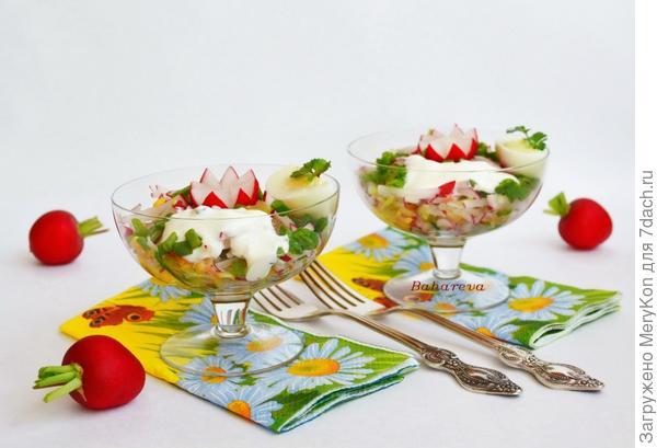 Салат - Весенние краски