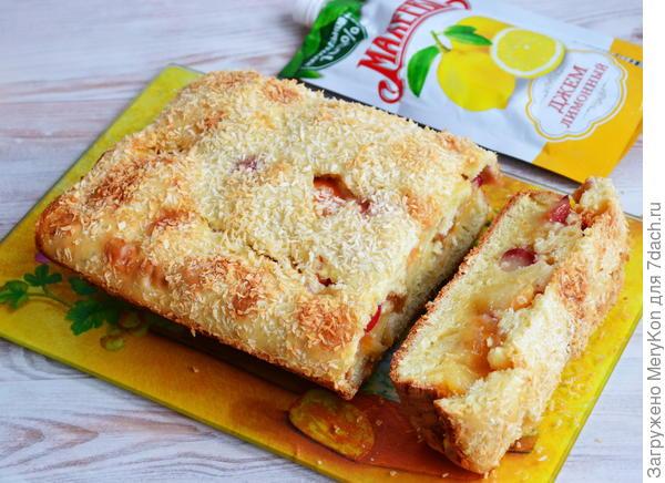Пирог - Студенческий - с яблоками и джемом