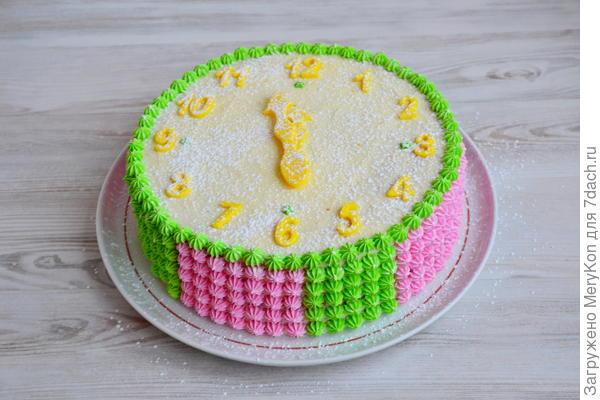 Бисквитный торт; Будильник; с творожным кремом. Пошаговый рецепт с фото