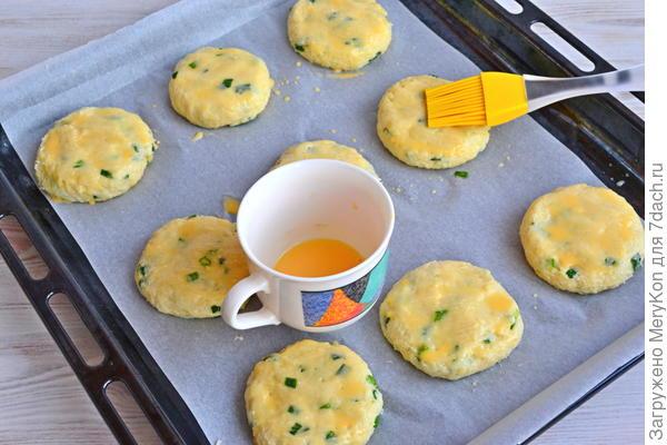 Сырное печенье с зеленым луком - пошаговый рецепт приготовления с фото