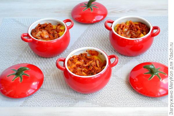 Жаркое из свинины в горшочках - пошаговый рецепт приготовления с фото
