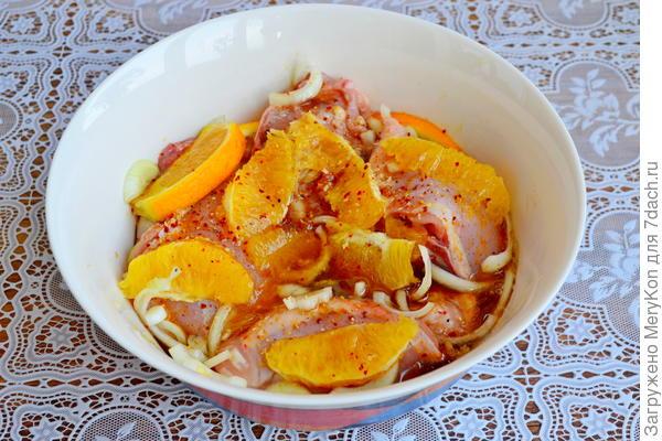 Куриные бедра в апельсиновом маринаде - пошаговый рецепт с фото