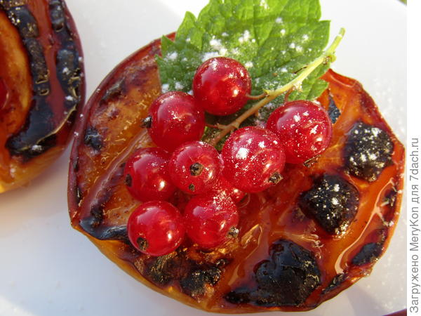 Нектарины (персики) на гриле. Пошаговый рецепт с фото