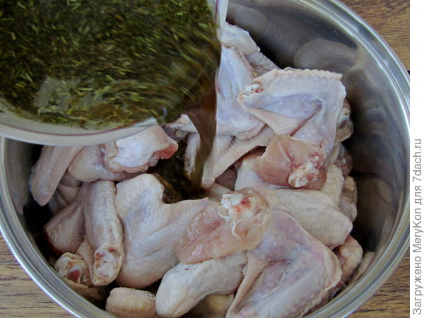 Крылья в маринаде с прованскими травами на мангале. Пошаговый рецепт с фото