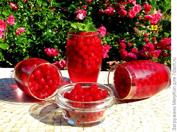 Смородина в вишневом желе