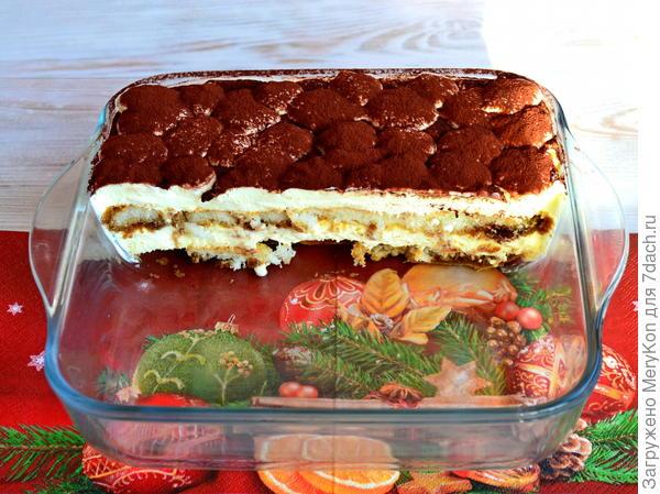 Тирамису - новогодний десерт. Пошаговый рецепт с фото