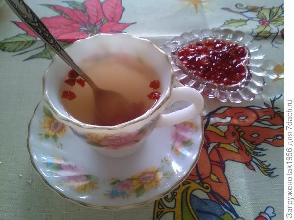 Чай с ложечкой калины