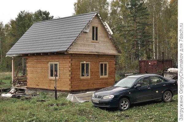 Окрашенный дом с окнами