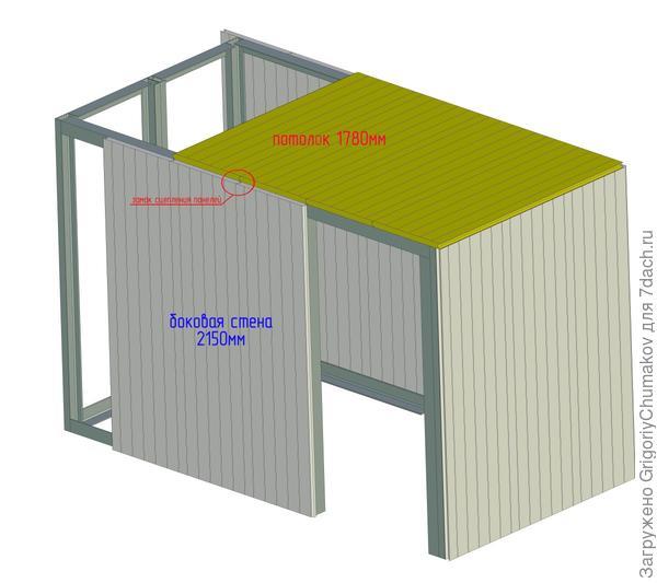 Пример с монтажом из седвич-панелей