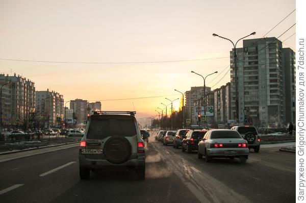 кусочек Красноярска на обратном пути домой с дачи
