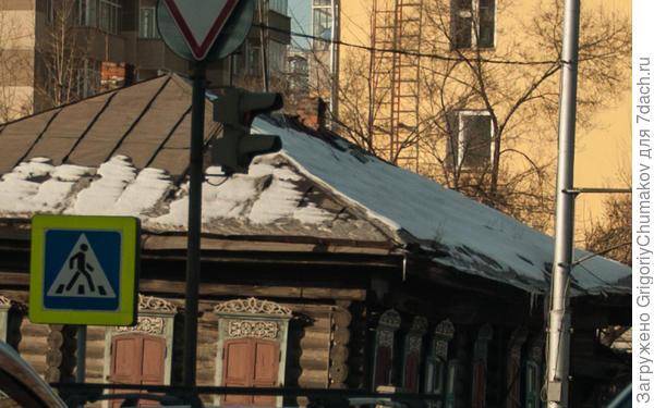 в пробке в центре Красноярска