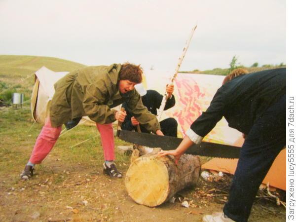 Заготовка дров для костра.
