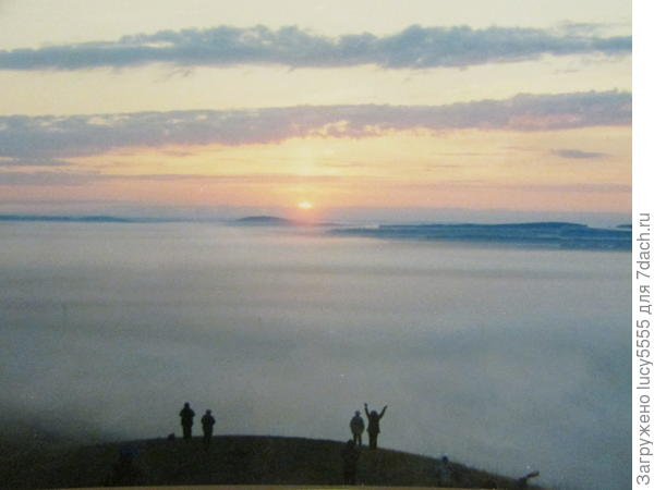 Море тумана на рассвете